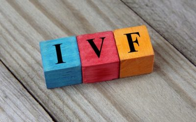 IVF acronym on colourful blocks on table