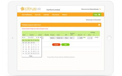 citrusHR expense management software