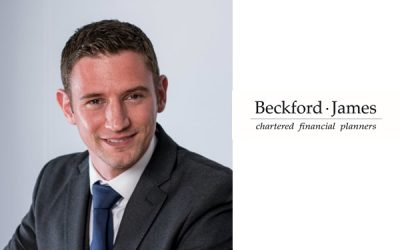 Headshot of a man next to the Beckford James logo