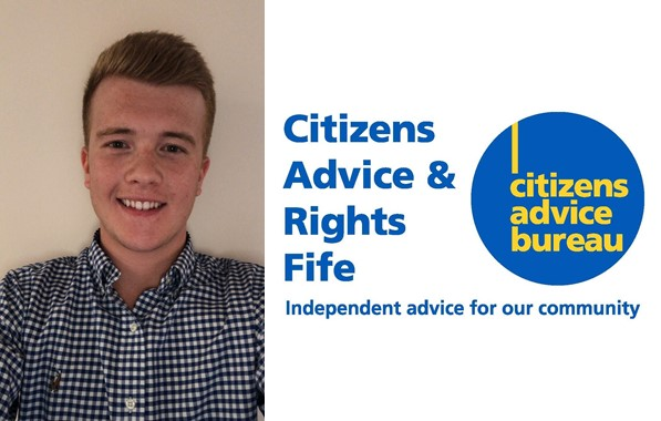 Citizens advice logo and Business Administrator headshot