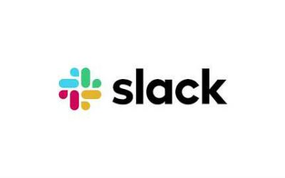 The Slack logo against a white background