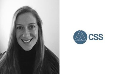 Louise next to the CSS logo