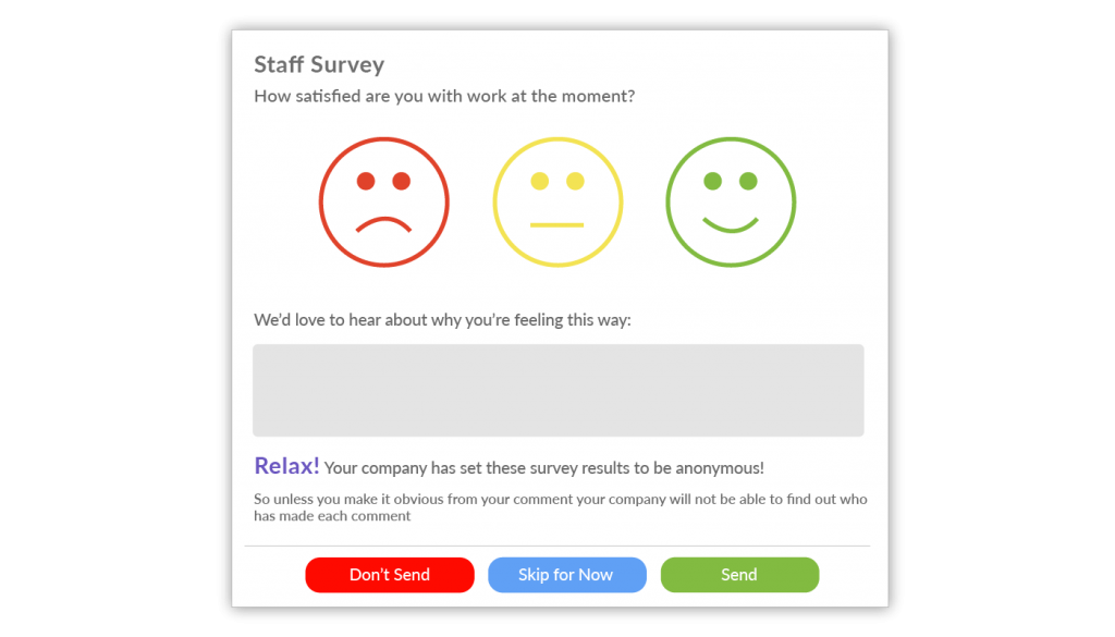 Staff satisfaction survey