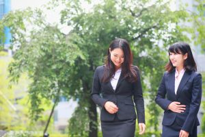 business women walking